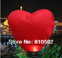wholesale Red Heart Chinese Fire Sky Lanterns Wishing Balloon Birthday Christmas wedding 30pcs/lot