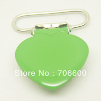 200pcs per lot,heart shape suspender clip in applegreen color,wholesale Suspender Clip,Suspender Clips Suppliers & Manufacturers