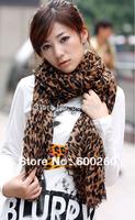 New Style Fashion Hot Leopard Scarf Women Warm animal print Leopard favorite super star shawl Free Shipping