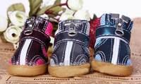 Colorful Cowhells Bottom Pet Shoes Anti-skidding Ventilate Dog Shoes Puppy Botties Rain Shoes #9238