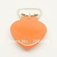 200pcs per lot,heart shape suspender clip in orange color,wholesale Suspender Clip,Suspender Clips Suppliers & Manufacturers