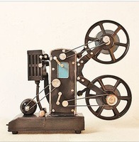 zakka Tin toy Iron Crafts Classics Retro Projection Machine office home decoration gift Photography props