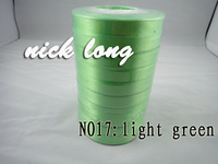 free shipping10mm 250yds light green single face Satin Ribbon/webbing decoration/crafts materials
