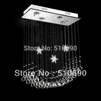 JEZZ LIGHTING/FREE SHIPPING+ 4w LED BULB MOON & STAR DESIGN K9 CRYSTAL CHANDELIER/PEDANT LIGHT/CEILING/KIDS ROOM PARLOR ROOM
