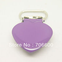 200pcs per lot,heart shape suspender clip in purple color,wholesale Suspender Clip,Suspender Clips Suppliers & Manufacturers