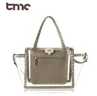 2013 new TMC women clear rivet totes hobo bags lady summer  waterproof  bags shoulder bags handbags YY058