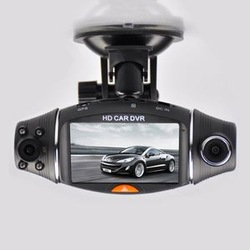 GPS Car DVR Dual Lens 2 7&quot; LCD DVR Camera Recorder Video Dashboard Vehicle Cam Free Shipping(China (Mainland))