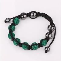 Fashion 2013 shamballa crystal bracelet charms 7-15 Color BB087