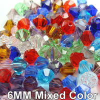 Swar Crystal beads Bicone 5301 6mm Multi Mixed Colors Free Shipping 500Pcs/Lot JF9134