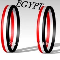 Sample Order Free Shipping EGYPT Stripe Silicone Wristband/Bracelet