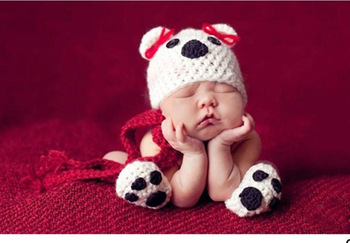 Cute Baby Infant Puppy Dog Knitted Costume Photo Photography Prop Newborn  ET-06