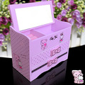 CN Free Pink jewelry box jewelry box cosmetic box girls wool cartoon gift