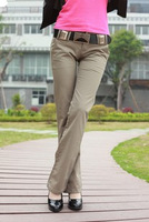 free shipping 2013 slim stretch cotton OL outfit straight casual long trousers women's trousers