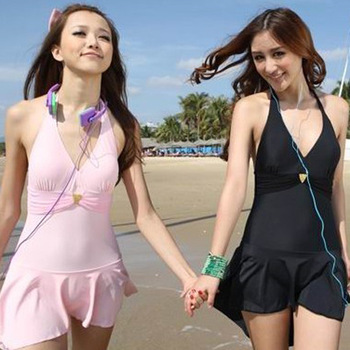 Swimwear dress one piece swimwear female swimwear 11055