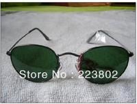 Free shipping men's woman sunglasses brand designer glasses  Classic round frame sunglasses Fashion 3447 ROUND metal  sunglass