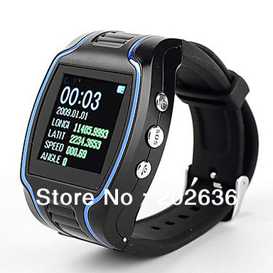 Free Shipping!!!Quadband Wrist Watch Cell Phone with Sos Button and GPS Tracker 1.5 Inch LCD Screen(Hong Kong)