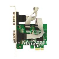 MCS9922CV Chipset, 2-port DB-9 Serial (RS-232) PCI-e Controller Card ,Brand IOCREST