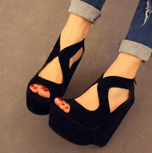 New arrival 2013 thin open toe shoe wedges high-heeled sandals female platform shoes(China (Mainland))