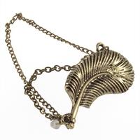10 pair/lot Gothic Punk Chain Feather Leaf Tassels Dangle Ear Cuff Warp Clip Earring