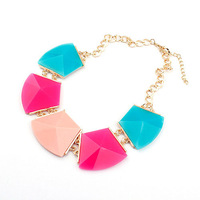 Free Shipping 2013 New European Geometry Choker Statement Bib Necklaces Fashion Jewelry Gift For Women Wholesale