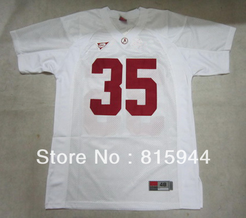 College Alabama Crimson Tide #35 blank white ncaa football jerseys size 48-56 mix order free shipping(China (Mainland))