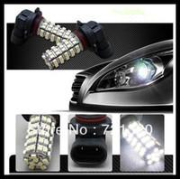 2 pcs HB4 9006 3528 SMD 68 Car LED White Fog Head Light Lamp Bulb DC 12V, Free Shipping  car led lamp