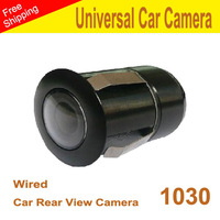 1030 Ntsc waterproof universal car  Rear View camera 009 installed in a digged hole diameter  20mm