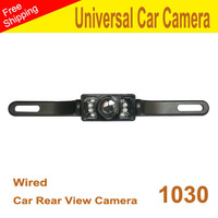 Ntsc waterproof universal car  Rear View camera 007 Installed in the license plate