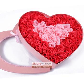 50 soap flower love gift rose bow day gift