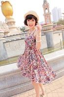 Maternity  Summer big size floral skirt/ Beach dot printing dresses