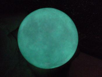 480g (1.06 lb)  White Jade Stone Glow In The Dark Stone Ball China T041