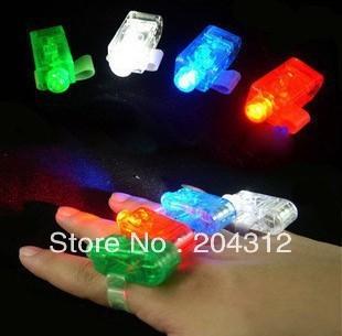 100pcs/lot Finger Lights finger ring magic beam laser lights party concert KTV supplies Toys LED Lights Free shipping DHL