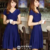 Free shipping 2013 fashion dress, long dress, look slimmer, OL design, plus size lady dress 24 colors