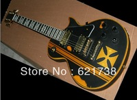 best Factory guitar 2012 best Christmas gifts guitar iron cross black Electric guitar free shipping