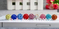 30pieces/lot  Universal 3.5mm new style crystal dustproof  Earphone Jack Plug for iPhone ipad samsung free shipping