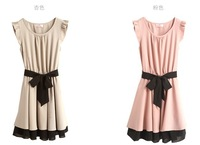 The new summer 2013 ladies ruili ruili, Japan and South Korea 867 lotus leaf cuff strap dress