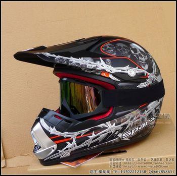 Motorcross helmet Sparx off-road helmet motorcycle off-road helmet d-07 skull  motorbike helmet