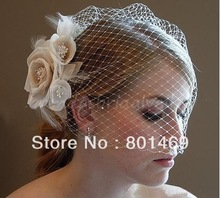 Very Beautiful 2012 New the models Blusher Birdcage Ivory the Champagne Wedding Veil Bridal Veil(China (Mainland))