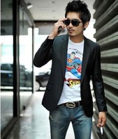 2013 Free Shipping Wholesale Japanese Korean casual Slim men's suit spring summer thin men cheap designer fashion Brand Blazers