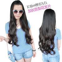Free shipping hair piece a pear wig piece big waves long high temperature hair silk