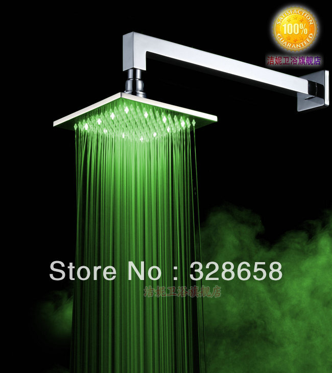Copper lamp top shower spray led light shower hot and cold 8 shower rod(China (Mainland))