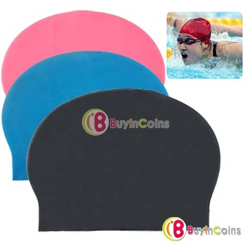 Fashion Durable Sporty Rubber Swim Cap Swimming Hat[3998|99|01]