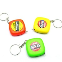 free shipping fashion Novelty keychain 1 meters carry long plastic tape measure small gift yiwu commodity