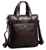 2014 New Design Men Casual Cowhide Shoulder Bags Genuine Leather Men's Business Handbag Messenger Bag Vertical Briefcase