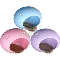 Free Shipping Candy color oval shape pet yurt waterproof Dog Bed Dog Home cat house Dog Kennel teddy Dog House