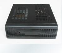 Mini-itx motherboard small computer case ion e350 htpc mini car computer case black