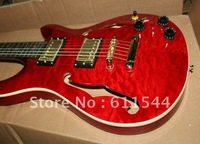 Best Sunburst Wavy top High Quality Hollow PRS Electric Guitar 22 Fingerboard Birds Inlay HOT