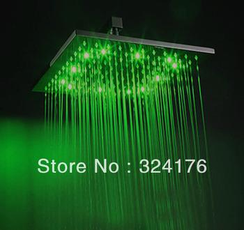 Modern 3 Color change 12 inch bathroom LED Shower
