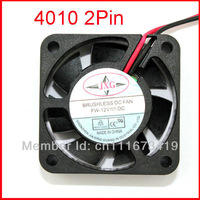 Black 2 Pin 12V 40mm x 10mm 4010 Brushless DC Fan PC Cooling Cooler Fan