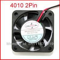 Black 2 Pin 12V 40mm x 10mm 4010 Brushless DC Fan PC Cooling Cooler Fan